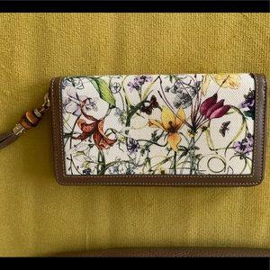 Gucci Jackie Flora zip-around wallet w tassel pull